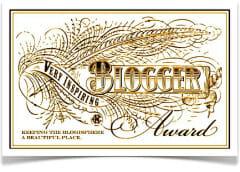 Very Inspiring Blogger Award (Who knew?)