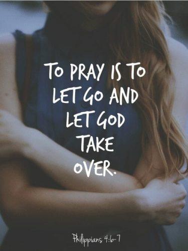 P.U.S.H is Pray Until Something Happens